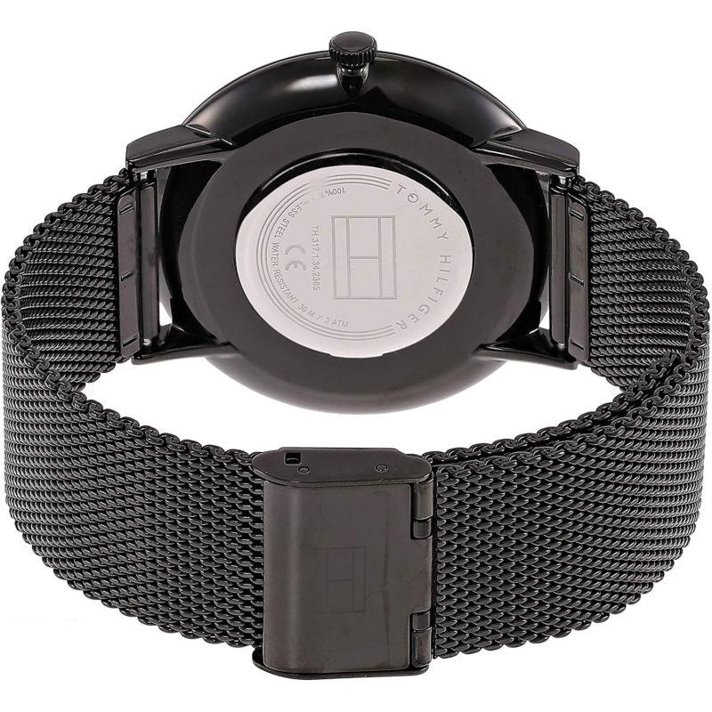 Schwarzes Milanaise-Armband und Gehäuse