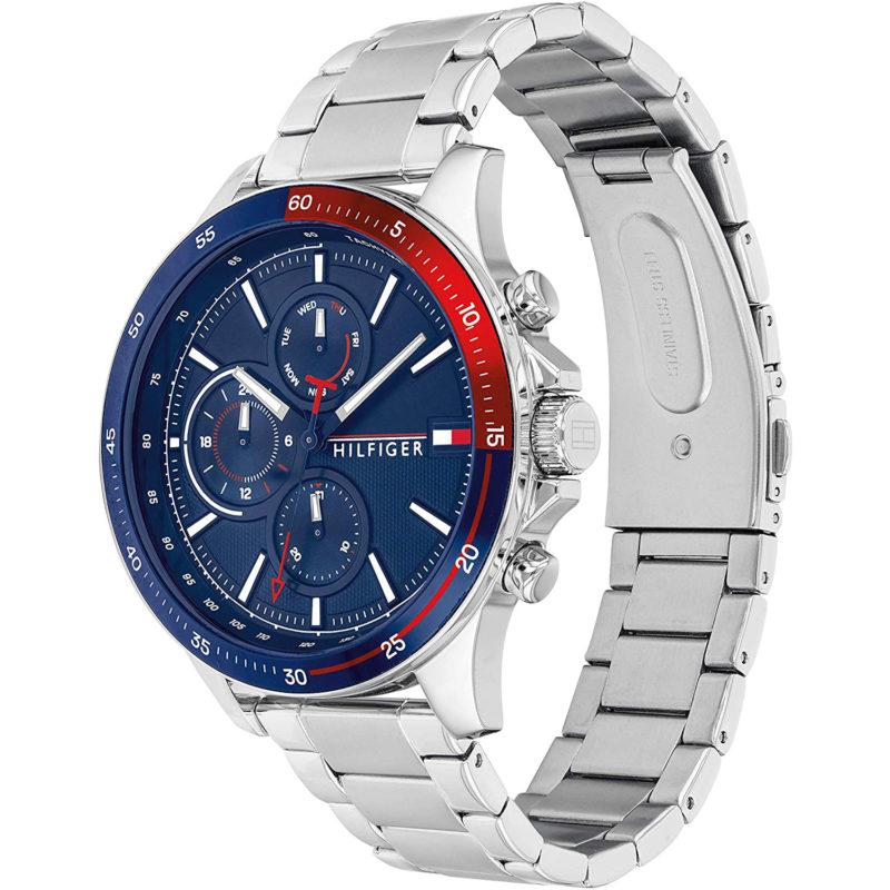 Blau-Rote Tommy Hilfiger Uhr