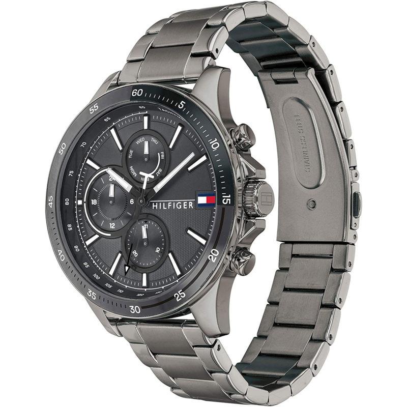 Grau-Schwarze Tommy Hilfiger Uhr 1791719