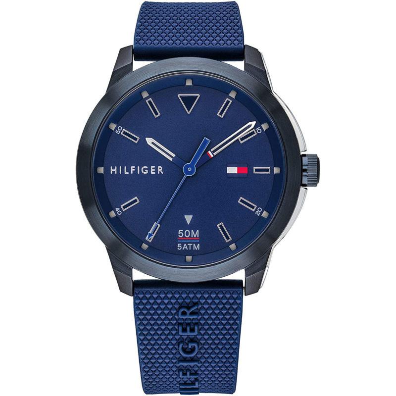 Blau-Schwarze Tommy Hilfiger Uhr 1791621